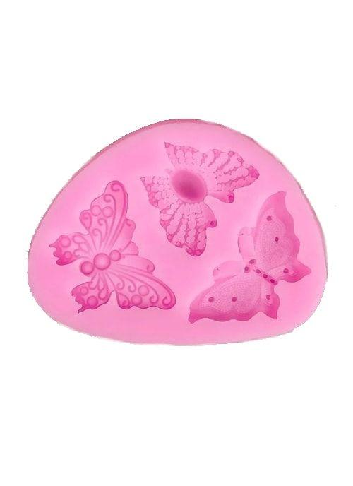 """Молд 10х7х1,2 см """"Бабочки"""", розовый"""
