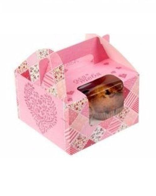 """Коробочка для кексов 4шт """"Подарок с волшебством"""", 16 х 16 х 10 см"""