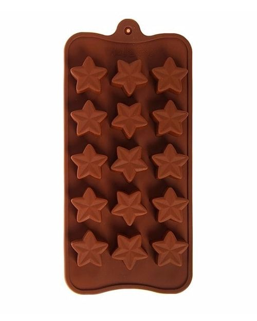 "Форма для льда и шоколада, 15 ячеек, 20,5х10,5х1,5 см ""Звездочет"""