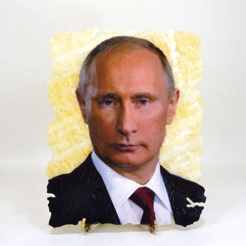 """Картина на ониксе """"В.В. Путин"""""""