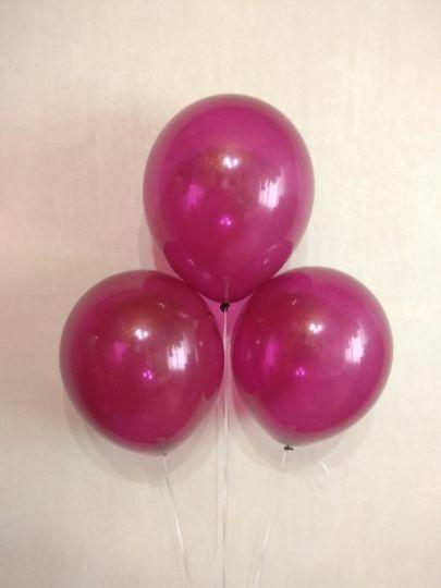 Пурпурный полупрозрачный шар латексный с гелием