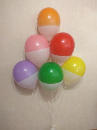Двухцветные поплавки латексные шары с гелием