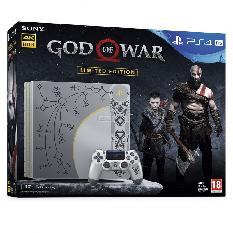 Sony PlayStation 4 Pro 1 TB (CUH-7116B, ПО 4.73) Limited Edition + God Of War