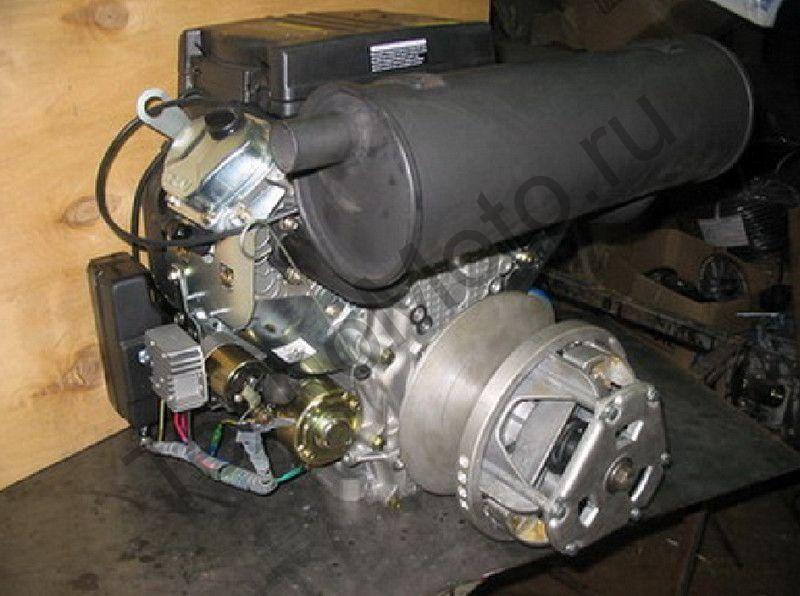 Двигатель на снегоход Буран мощностью 32 л.с., объем 680 куб/см, двухцилиндровый, 4-х тактный с электростартером - на Буран