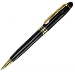 ручки черные с золотистым с логотипом