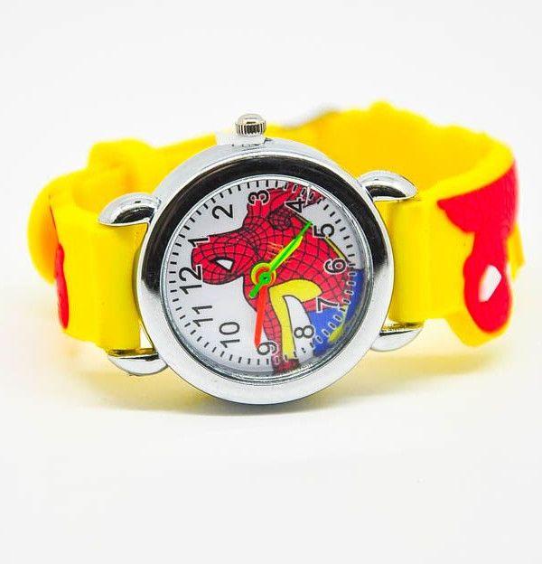 Желтые наручные часы Человек Паук