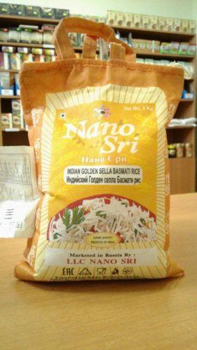 Рис индийский Басмати Голден Селла | Basmati Golden Sella | 1 кг | фасовка | Nano Sri