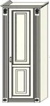 Колонка Ферсия с двумя пилястрами платяная (модуль 8)