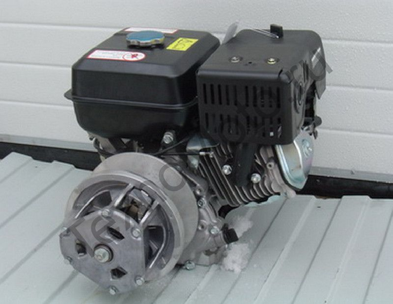 Двигатель на снегоход Буран мощностью 21 л.с., объем 410 куб/см, одноцилиндровый, 4-х тактный с электростартером - на Буран