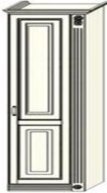 Колонка Ферсия с одной пилястрой справа платяная (модуль 9)