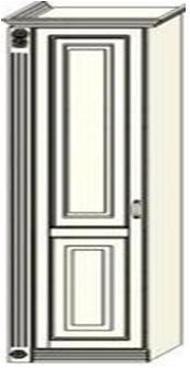 Колонка Ферсия  с одной пилястрой слева платяная (модуль 10)
