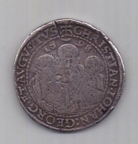 1 талер 1598 г. Саксония. Германия