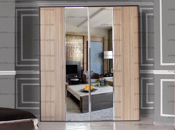 Шкаф 4-дверный Фелисия (205х63х236)