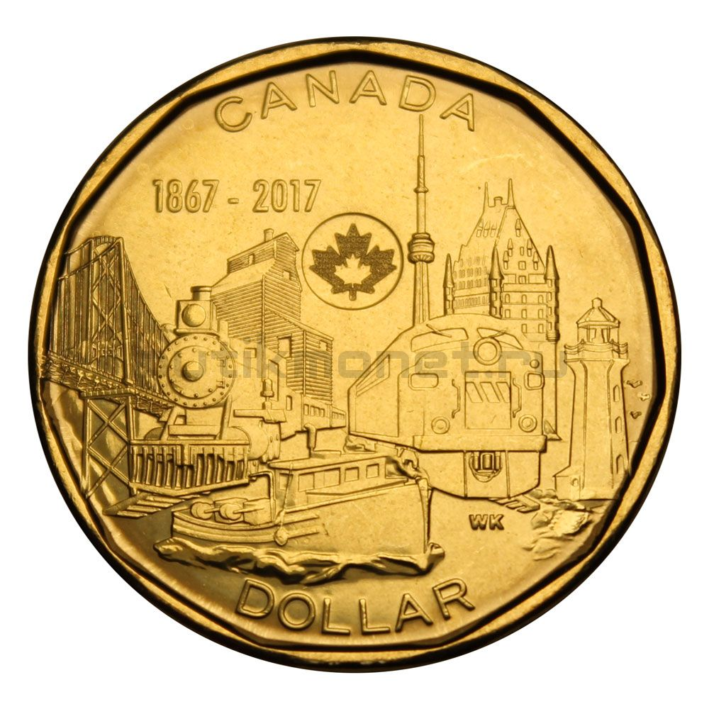 1 доллар 2017 Канада Объединённая нация (150 лет Конфедерации Канады)