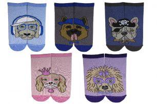 Детские/подростковые укороченные  носки С 50 собачки