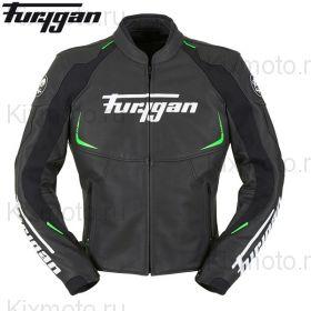 Мотокуртка кожаная Furygan Spectrum, Черный/Зеленый