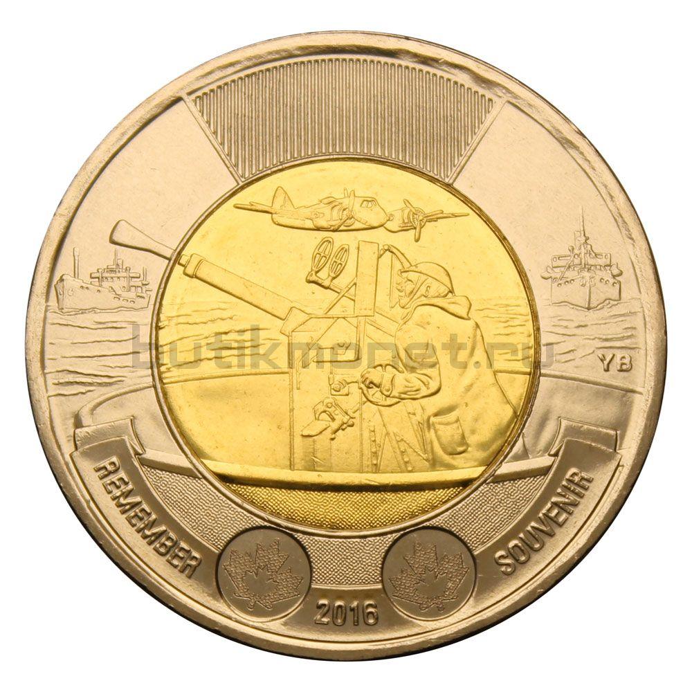 2 доллара 2016 Канада 75-летие Битвы за Антарктику