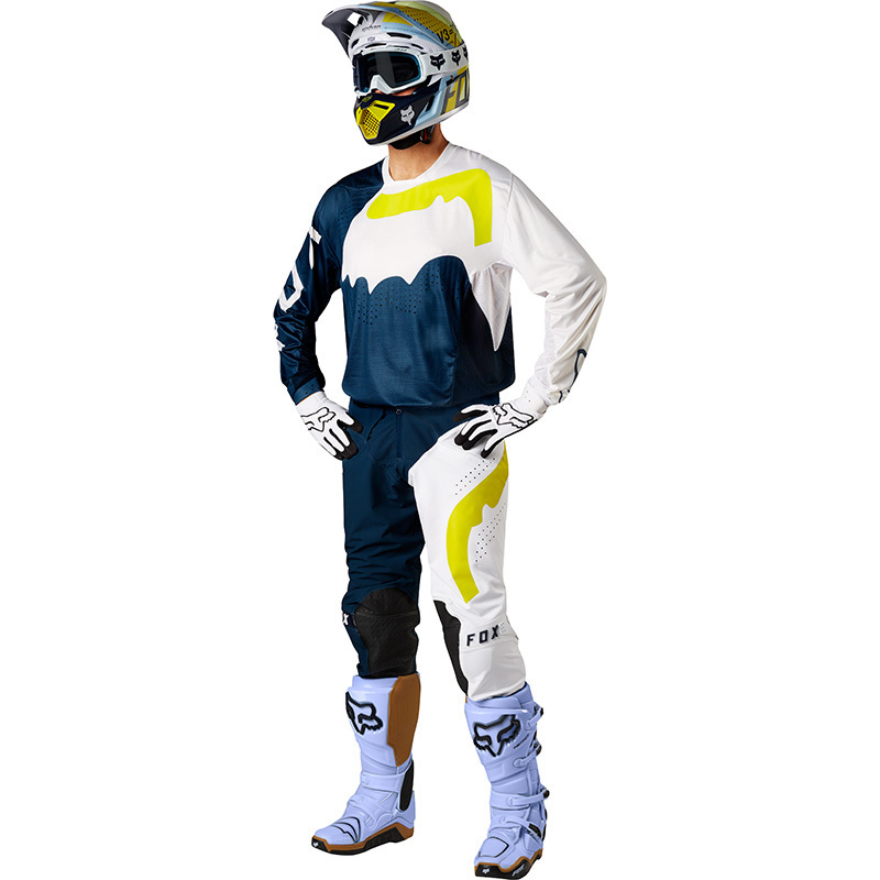 Fox - 2018 Flexair Hifeye Navy/White комплект джерси и штаны, сине-белый