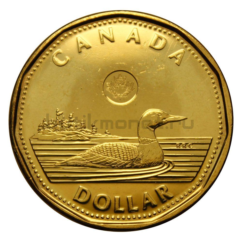 1 доллар 2013 Канада Черноклювая гагара