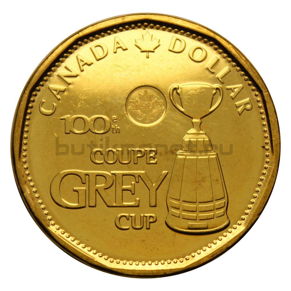 1 доллар 2012 Канада 100 лет Кубку Грея