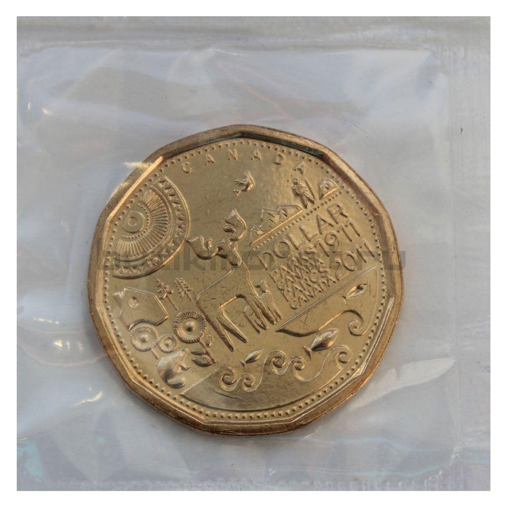 1 доллар 2011 Канада 100-лет первому национальному парку Канады