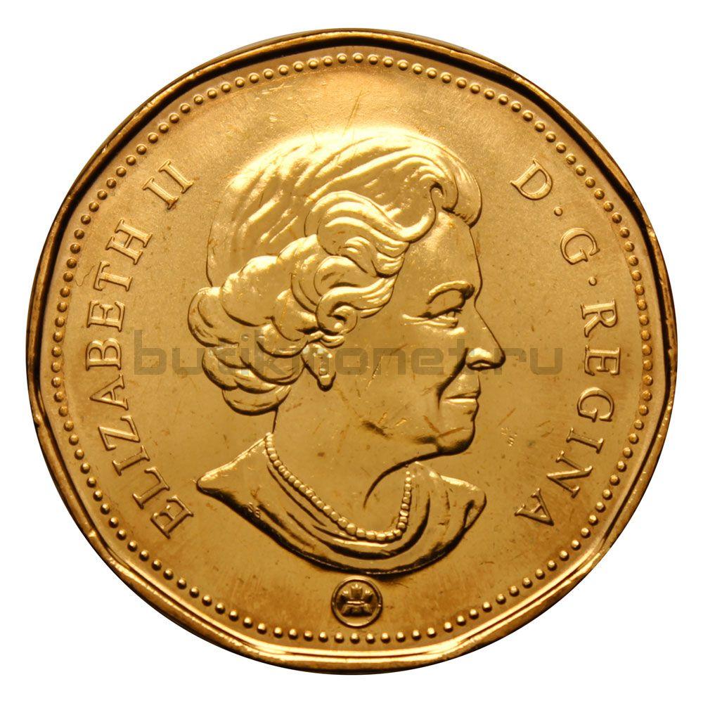 1 доллар 2009 Канада 100 лет Хоккейному клубу Монреаль Канадиенс