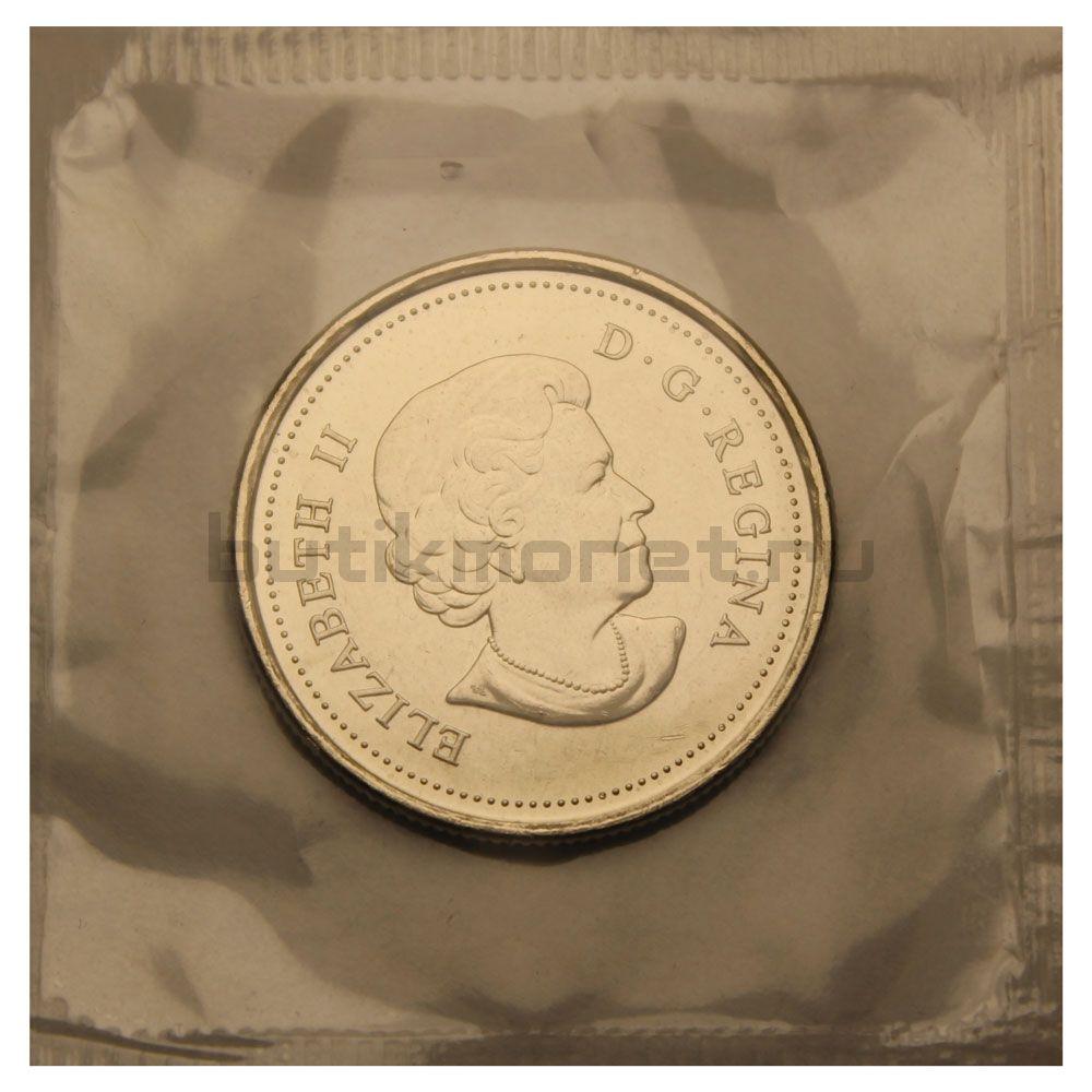 25 центов 2011 Канада Бизон Цветная (Природа Канады)