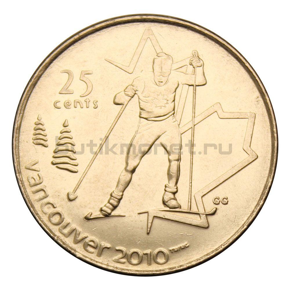 25 центов 2009 Канада Лыжные гонки (Олимпийские игры в Ванкувере)