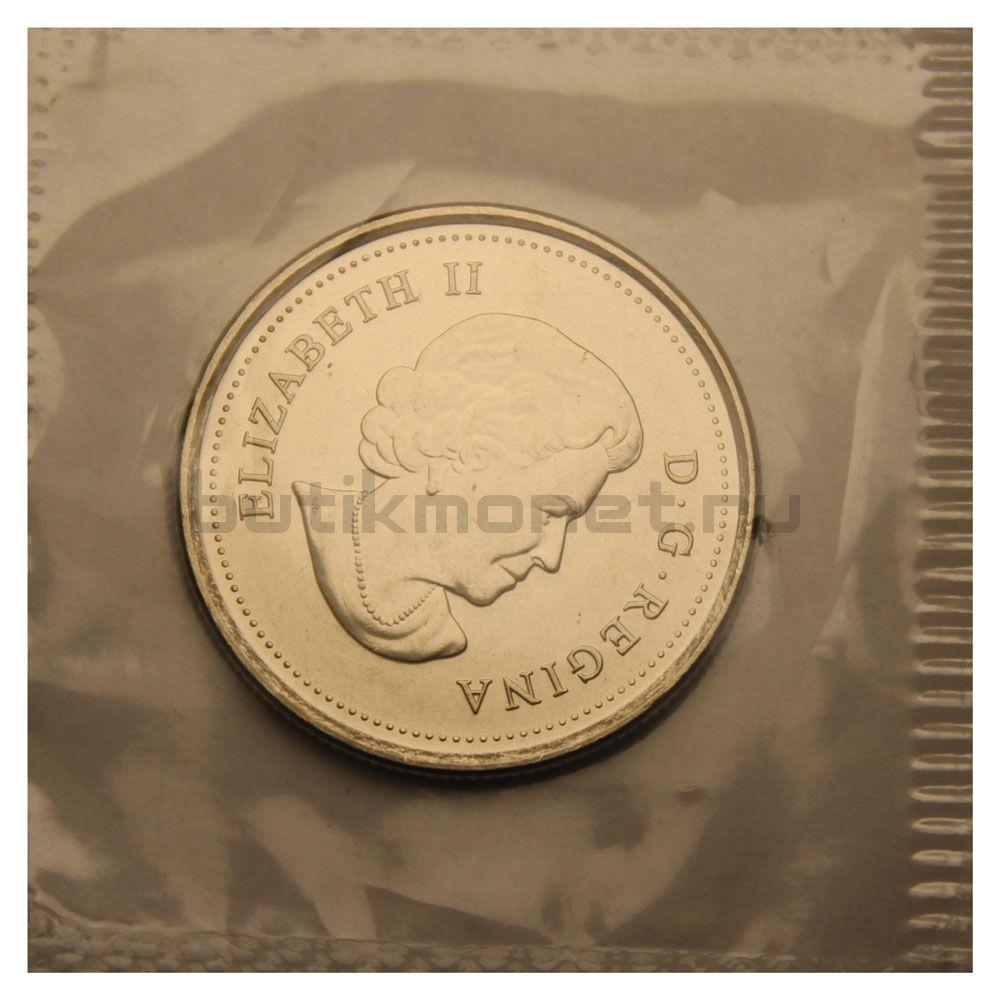 25 центов 2011 Канада Касатка Цветная (Природа Канады)