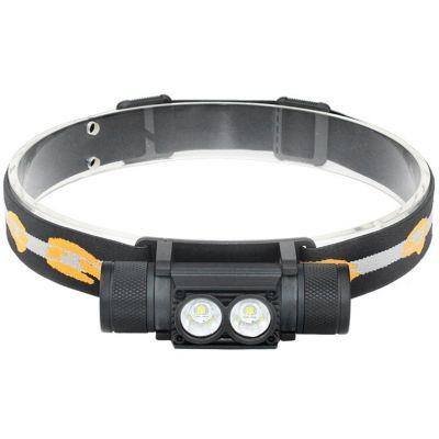 Наголовный фонарь Boruit D25, 2*CREE XM-L2, ≈900 Лм, встроенное ЗУ