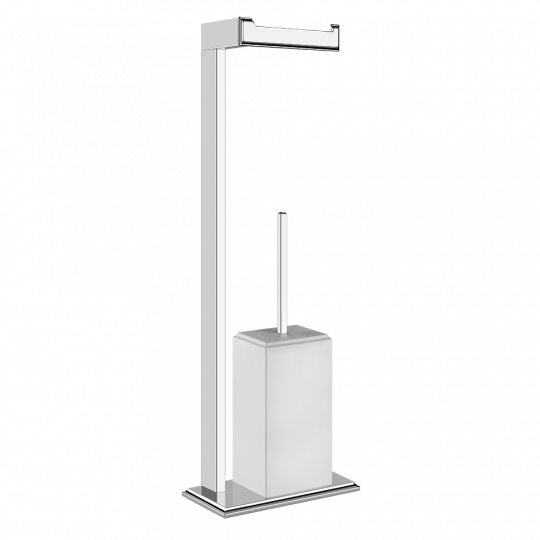 Gessi Eleganza Комплект: Держатель для туалетной бумаги + ёршик 46553