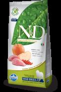 Farmina N&D Grain Free Boar&Apple Adult Dog Maxi Беззерновой корм для взрослых собак крупных пород (кабан и яблоко) (12 кг)