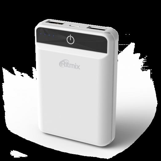 Портативный аккумулятор Ritmix RPB-10003L White белый (10 000 мАч)