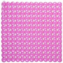 Антискользящий коврик для душа Rondo розовый 52 х 52 см 0160