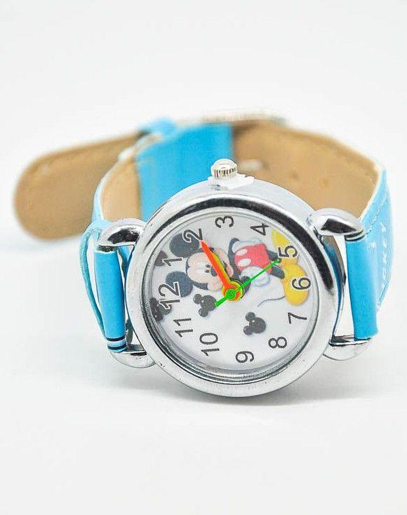 Бирюзовые наручные часы Микки Маус