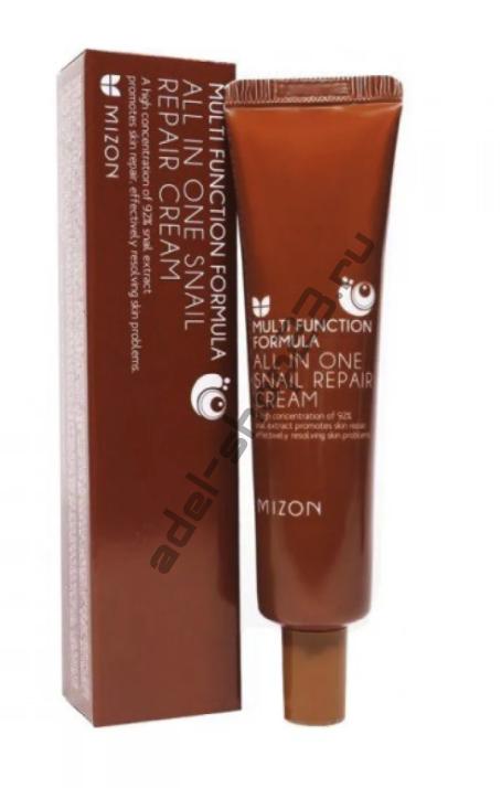 Mizon - Восстанавливающий супер-крем для лица с  фильтратом слизи улитки в тубе