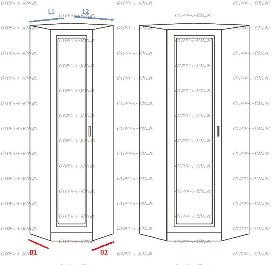 Шкаф угловой Ждана, равносторонний мод.46