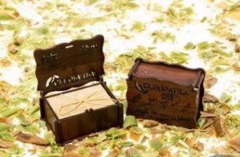 Подлинное Аллепское оливковое мыло в деревянной шкатулке с лавровым маслом, 1шт/150гр±10