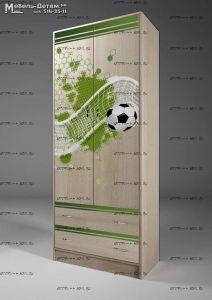 Шкаф 2-дверный Футбол Фанки Кидз ФУТ-13/3 (75х52х200)