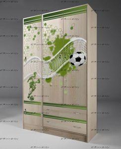 Шкаф Футбол Фанки Кидз ФУТ-13/3 + 13/10 (114х52х200)