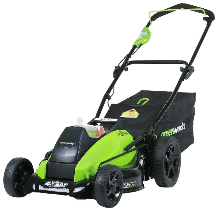 Аккумуляторная газонокосилка greenworks 2500407 G-MAX 40V 18-Inch DigiPro