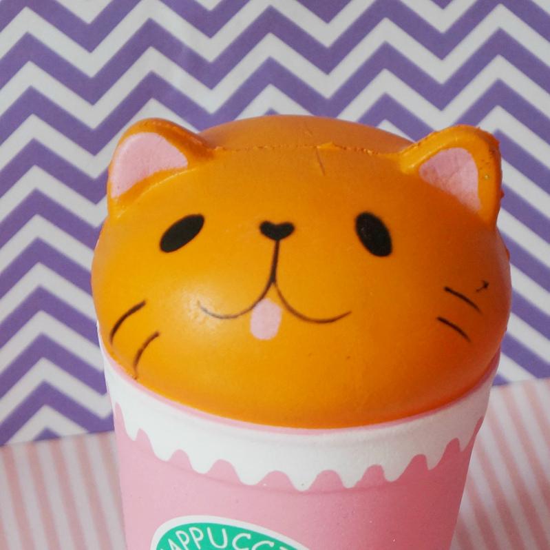 сквиш антистресс кот в стаканчике купить недорого
