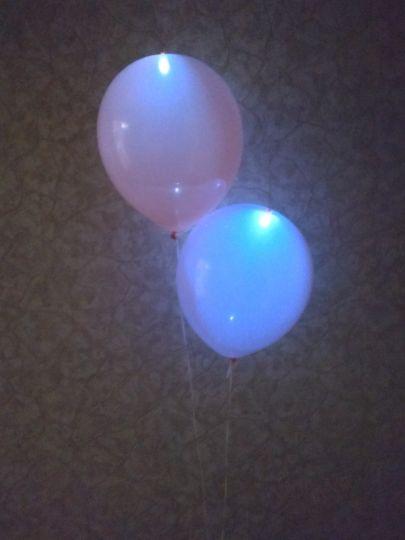 Мигающие светящиеся шары с возможностью выключения и постоянного свечения латексные с гелием