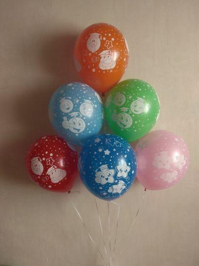 Смайлики Школьные латексные шары с гелием