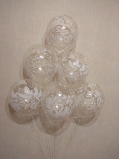 Свадьба Изящные прозрачные латексные шары с гелием