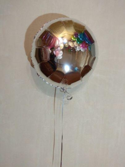 Круг серебряный шар фольгированный с гелием