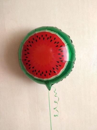 Арбуз - шар из фольги - сочные фрукты с гелием