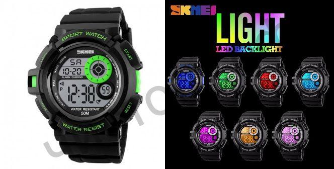 Часы наручные Skmei 1222 подсветка будильник Высокое качество Водонепроницаемые !