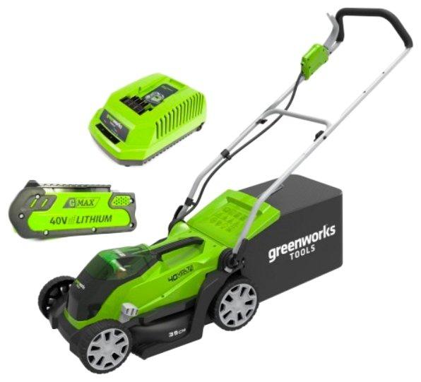 Газонокосилка аккумуляторная Greenworks 2501907ua G40LM35K2X