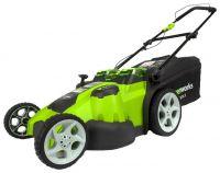 Газонокосилка аккумуляторная greenworks 2500207 G-MAX 40V 49 cm 3-in-1